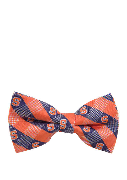 Eagles Wings NCAA Syracuse Orangemen Check Bow Tie