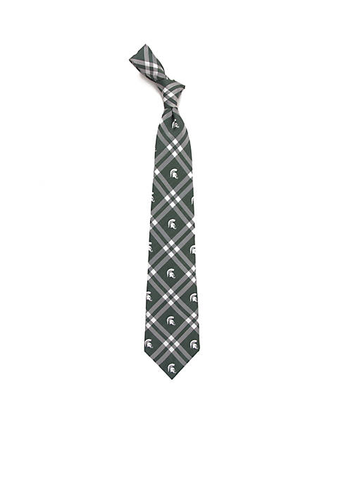 Eagles Wings Michigan State Spartans Rhodes Necktie