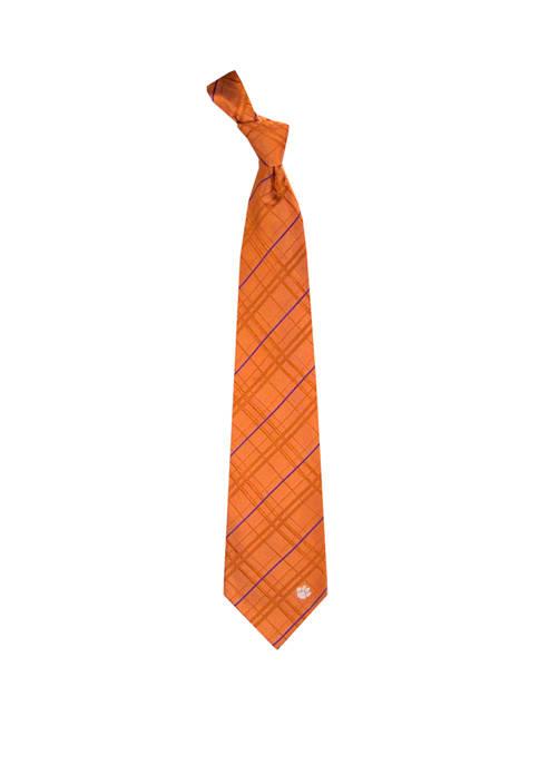 NCAA Clemson Tigers Oxford Woven Tie