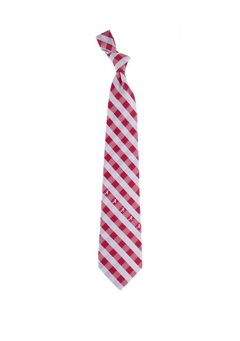 Eagles Wings NCAA Alabama Crimson Tide Check Tie