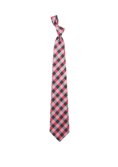Eagles Wings NCAA Arkansas Razorbacks Check Tie