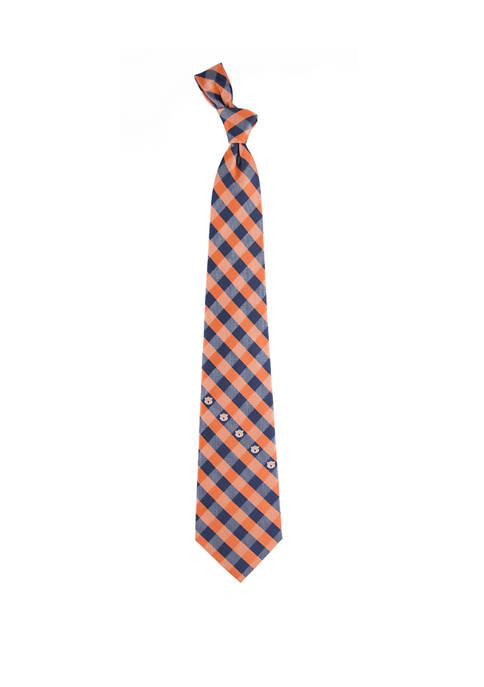 Eagles Wings NCAA Auburn Tigers Check Tie