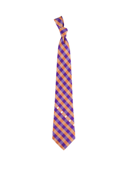 NCAA Clemson Tigers Check Tie