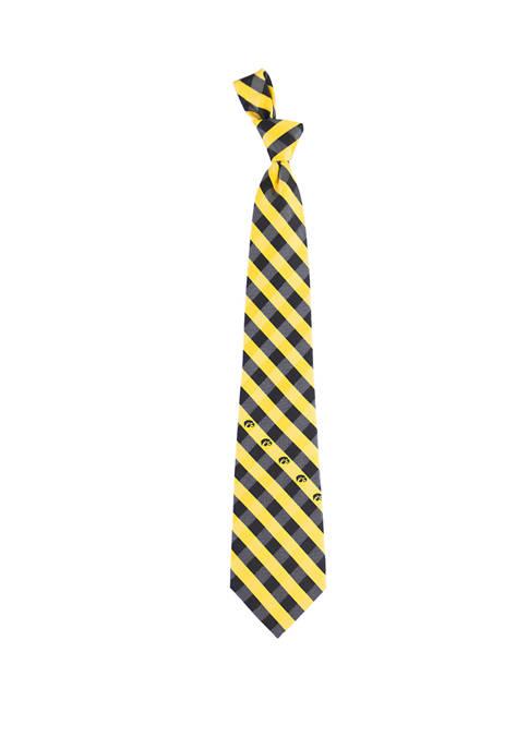 Eagles Wings NCAA Iowa Hawkeyes Check Tie