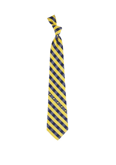 Eagles Wings NCAA Michigan Wolverines Check Tie
