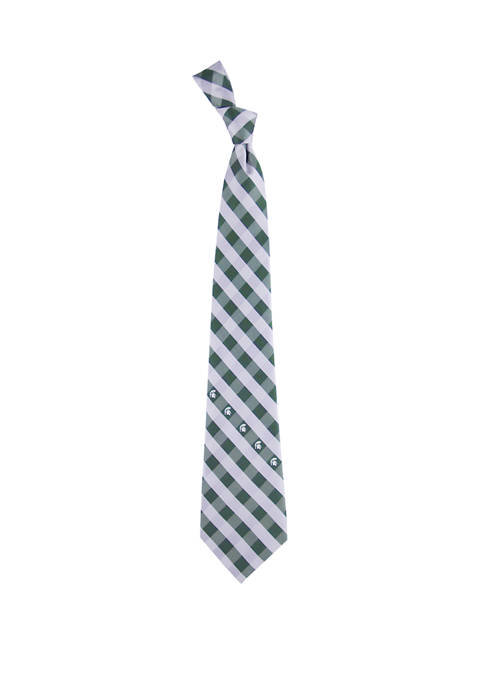 NCAA Michigan State Spartans Check Tie