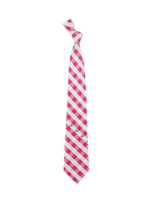 NCAA Ohio State Buckeyes Check Tie