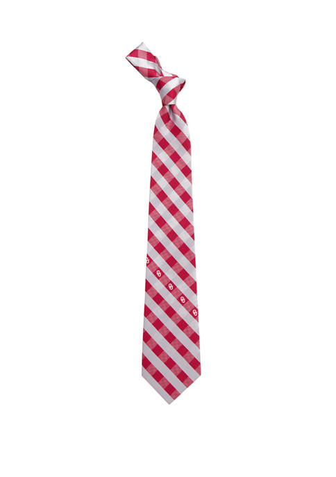 Eagles Wings NCAA Oklahoma Sooners Check Tie