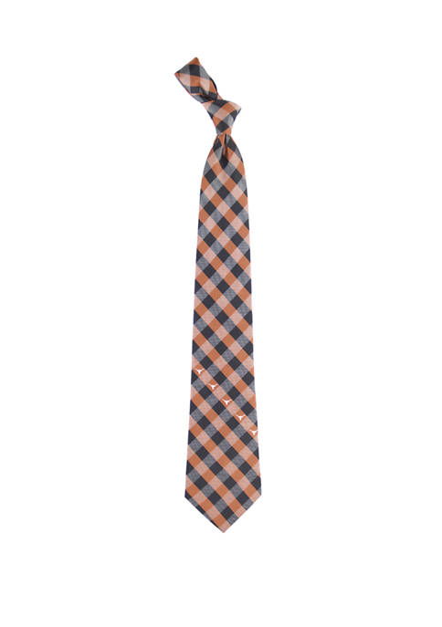 Eagles Wings NCAA Texas Longhorns Check Tie
