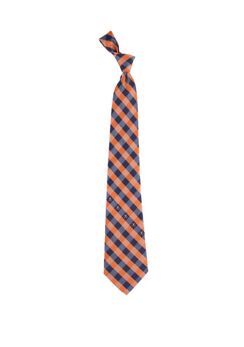 Eagles Wings NCAA Virginia Cavaliers Check Tie
