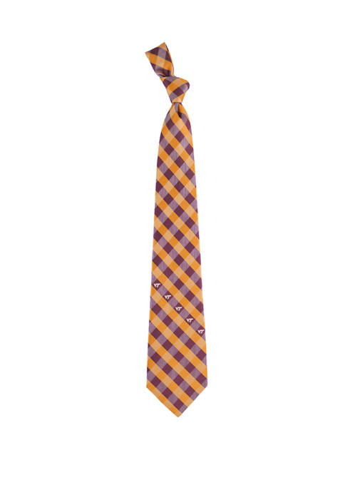 Eagles Wings NCAA Virginia Tech Hokies Check Tie