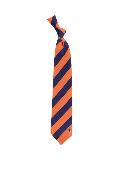 NCAA Illinois Fighting Illini Regiment Tie
