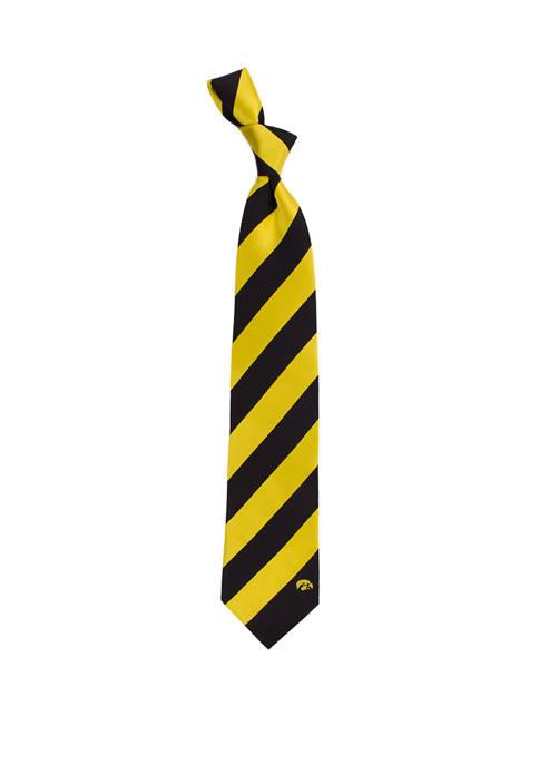 Eagles Wings NCAA Iowa Hawkeyes Regiment Tie