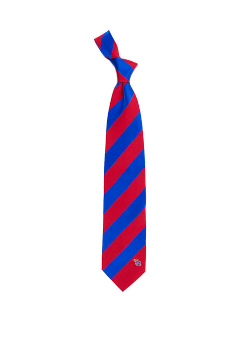 NCAA Kansas Jayhawks Regiment Tie
