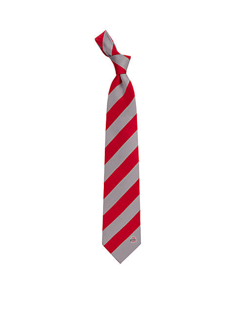 Eagles Wings Ohio State Buckeyes Regiment Tie