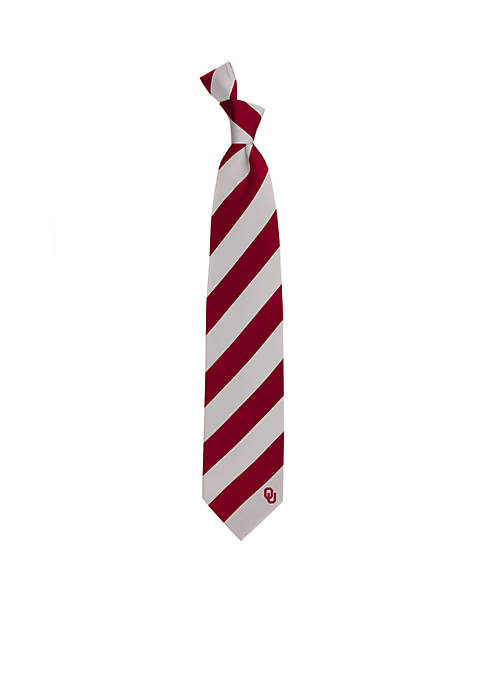 Oklahoma Sooners Regiment Tie