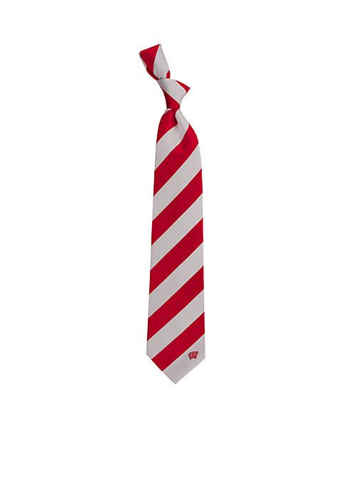 Eagles Wings Wisconsin Stripe Regiment Necktie