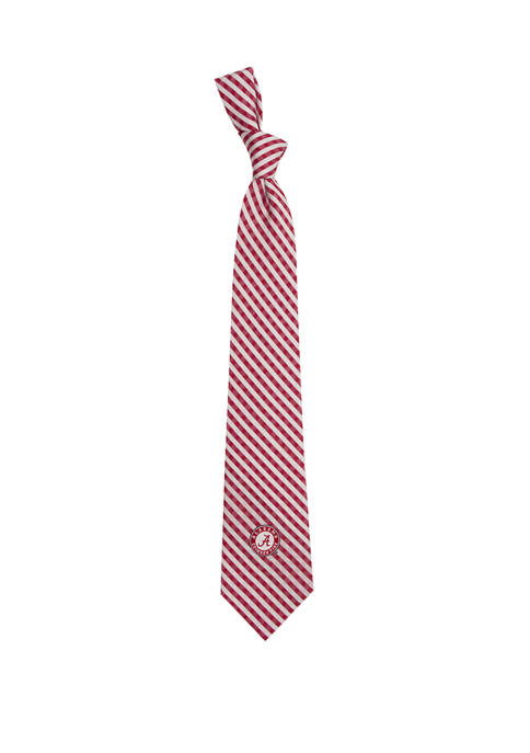 NCAA Alabama Crimson Tide Gingham Tie