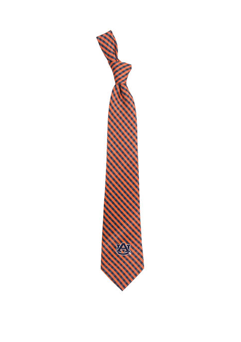 Eagles Wings NCAA Auburn Tigers Gingham Tie