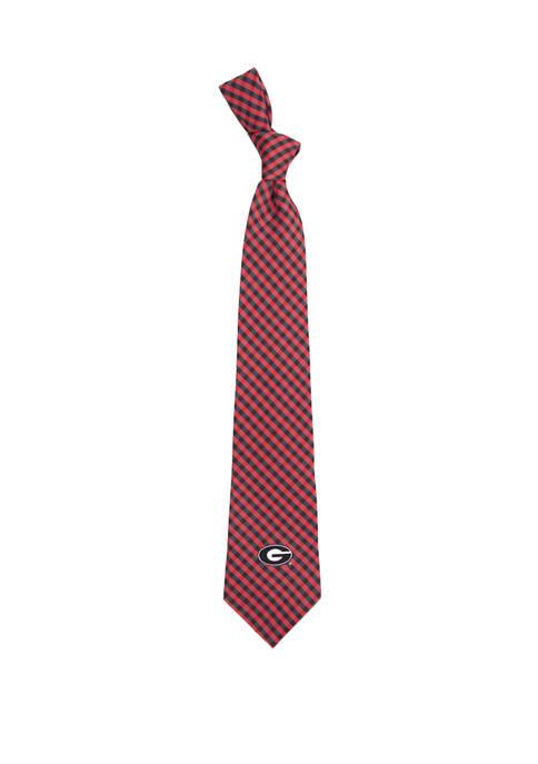 NCAA Georgia Bulldogs Gingham Tie