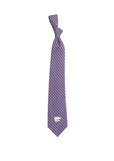 Eagles Wings NCAA Kansas State Wildcats Gingham Tie