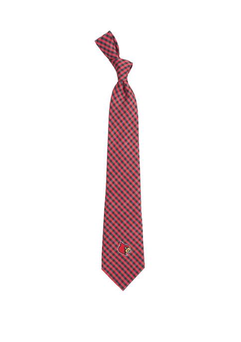 NCAA Louisville Cardinals Gingham Tie