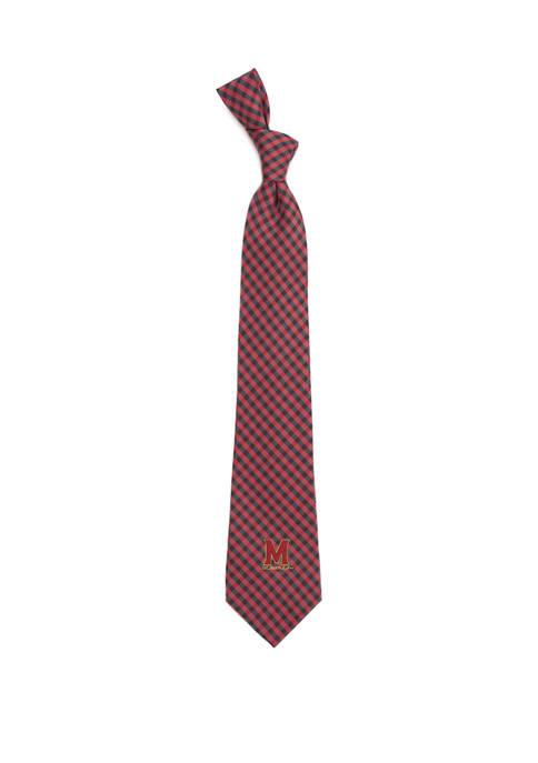 NCAA Maryland Terrapins Gingham Tie