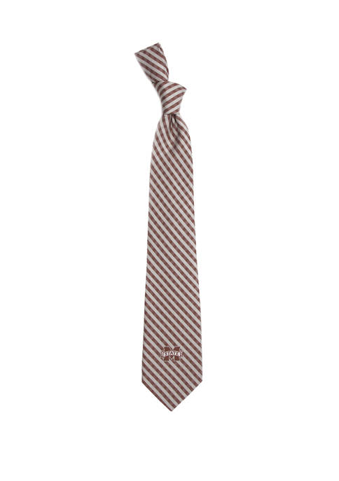 NCAA Mississippi State Bulldogs Gingham Tie