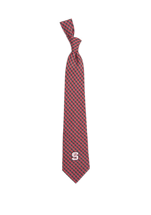 NCAA NC State Wolfpack Gingham Tie