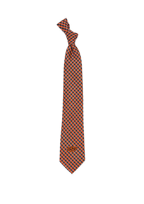 Eagles Wings NCAA Oklahoma State Cowboys Gingham Tie