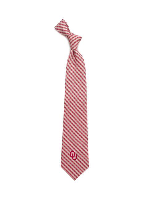 NCAA Oklahoma Sooners Gingham Tie