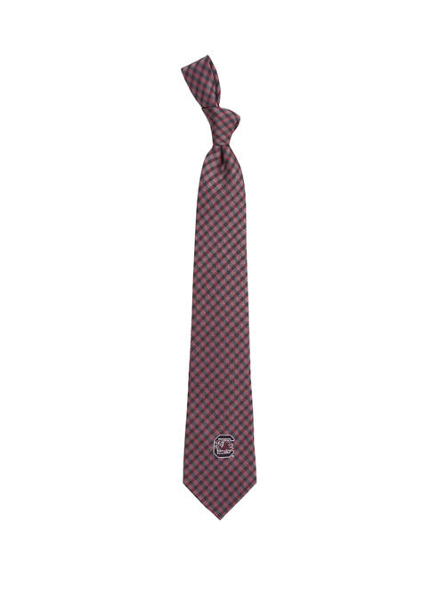 Eagles Wings NCAA South Carolina Gamecocks Gingham Tie