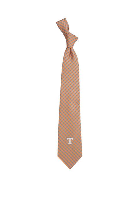 NCAA Tennessee Volunteers Gingham Tie