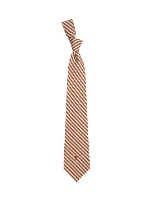 Eagles Wings NCAA Texas Longhorns Gingham Tie