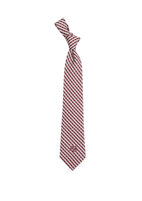 NCAA Texas A&M Aggies Gingham Tie