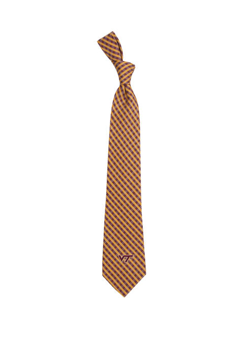 NCAA Virginia Tech Hokies Gingham Tie