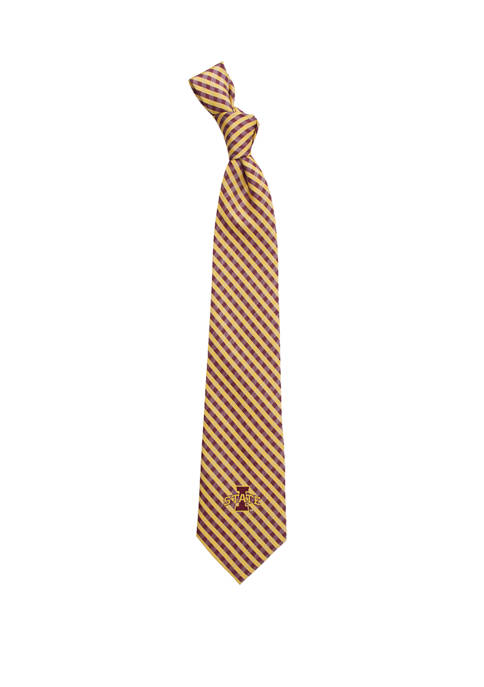 Eagles Wings NCAA Iowa State Cyclones Gingham Tie