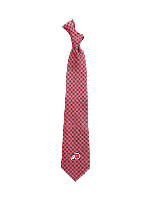 Eagles Wings NCAA Utah Utes Gingham Tie