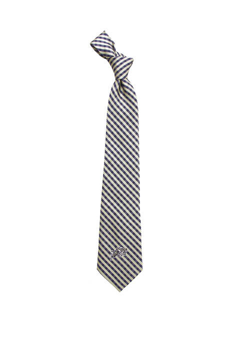 Eagles Wings NCAA Naval Academy Midshipmen Gingham Tie