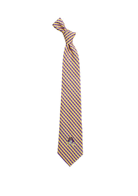 Eagles Wings NCAA East Carolina Pirates Gingham Tie