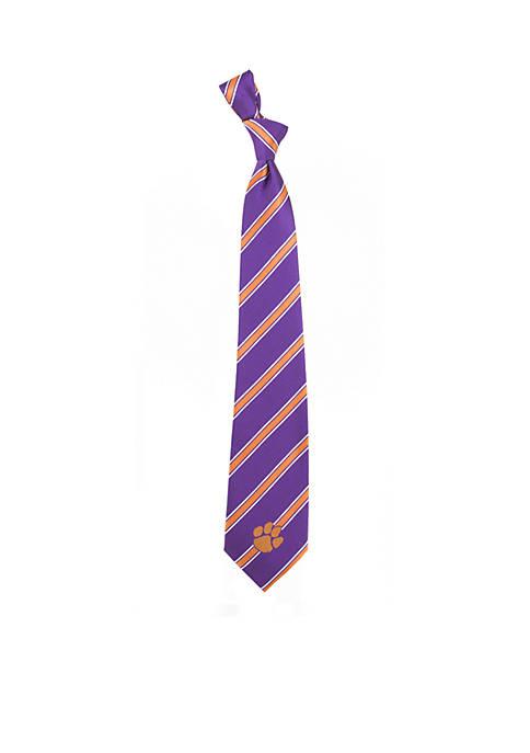 Eagles Wings Clemson Tigers Stripe Tie