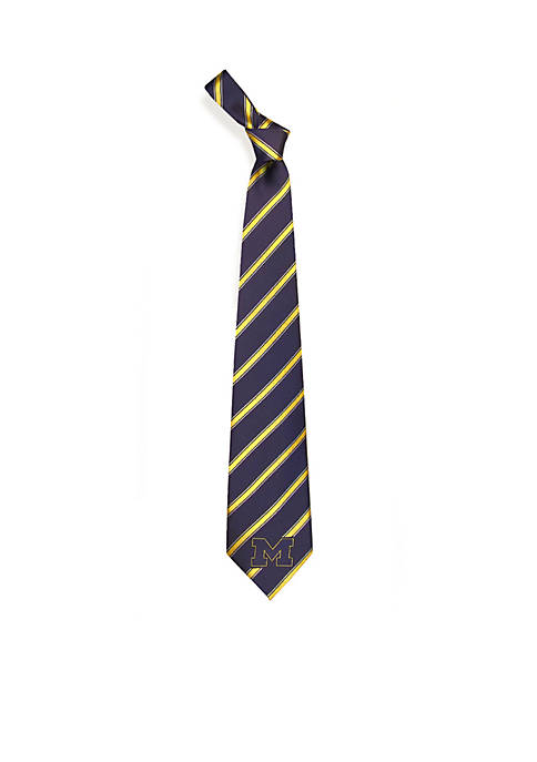 Eagles Wings Michigan Wolverines Woven Poly 1 Tie