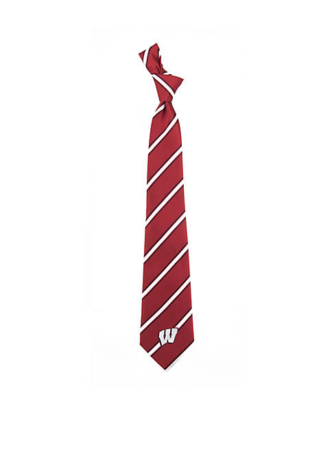 Eagles Wings Wisconsin Badgers Woven Poly 1 Tie