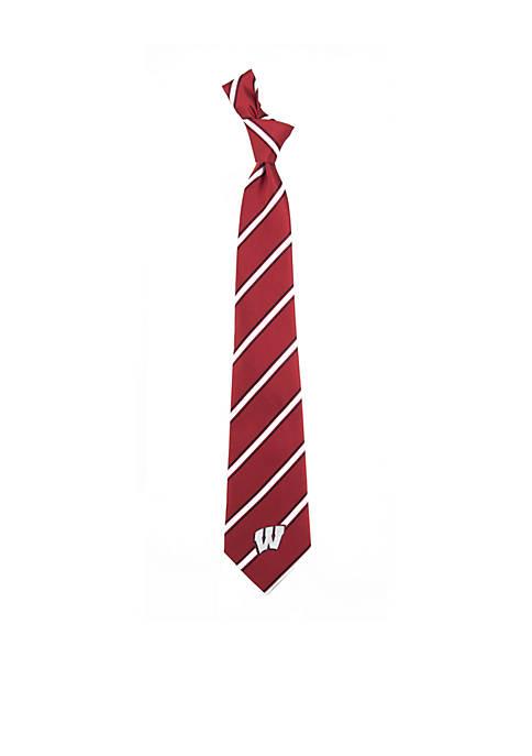 Wisconsin Badgers Woven Poly 1 Tie