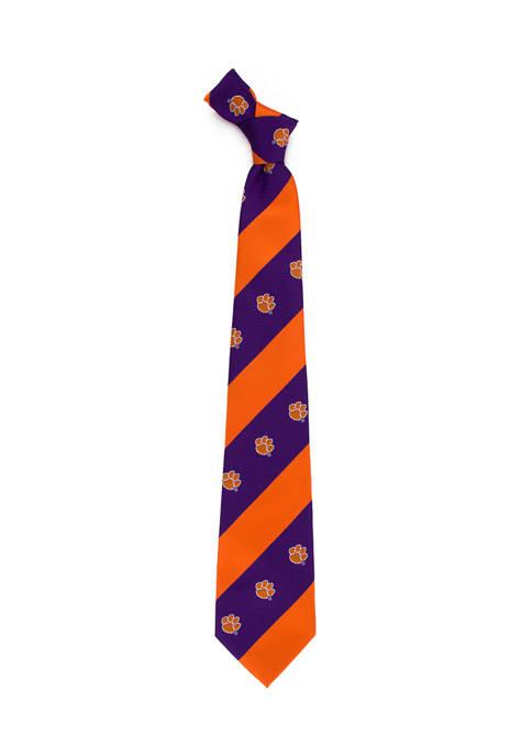 NCAA Clemson Tigers Geo Stripe Tie