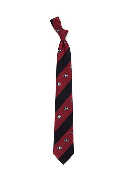Eagles Wings NCAA Georgia Bulldogs Geo Stripe Tie