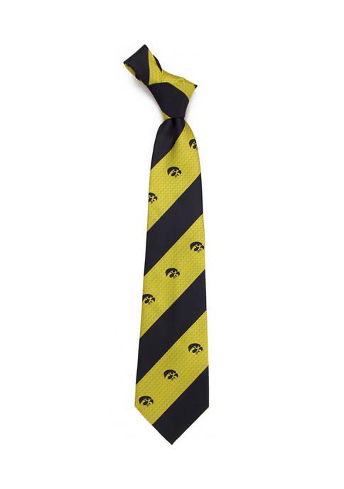 Eagles Wings NCAA Iowa Hawkeyes Geo Stripe Tie