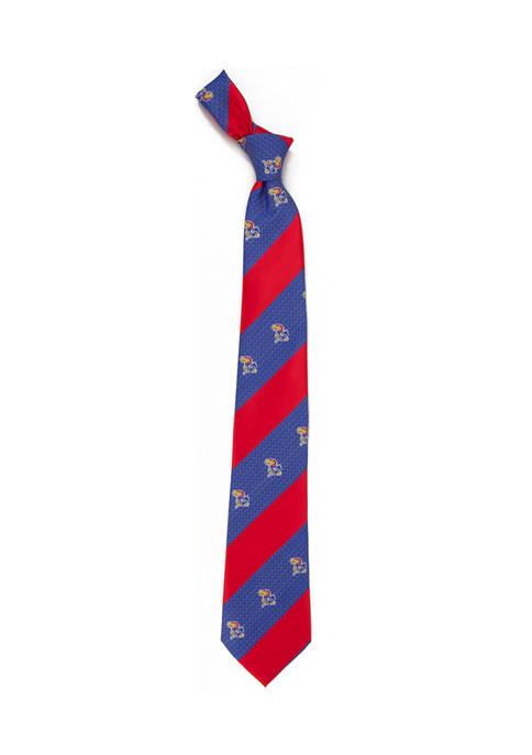 NCAA Kansas Jayhawks Geo Stripe Tie