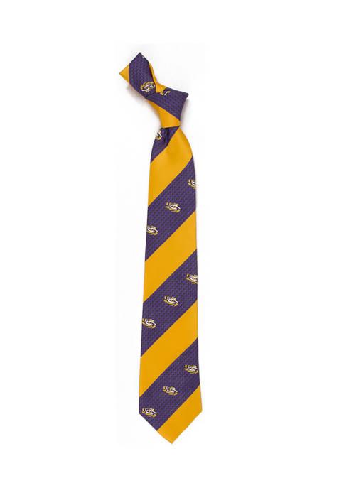 NCAA LSU Tigers Geo Stripe Tie