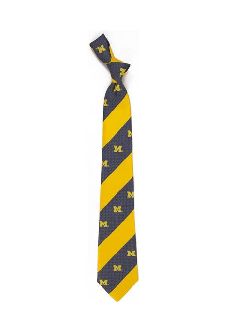 Eagles Wings NCAA Michigan Wolverines Geo Stripe Tie